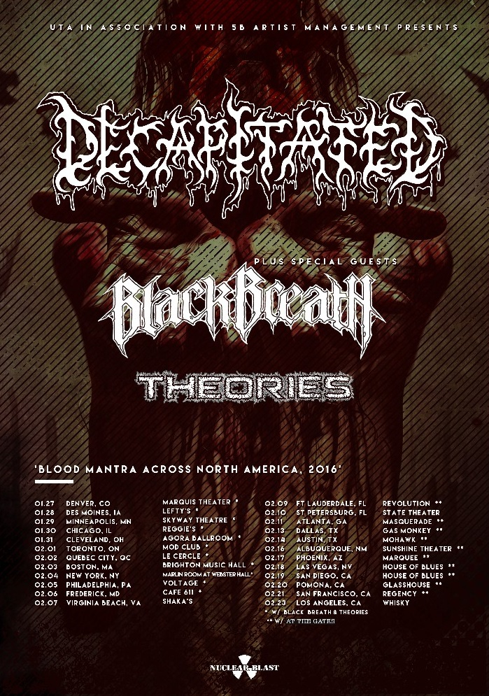 Decapitated / Black Breath / Theories Tour Dates