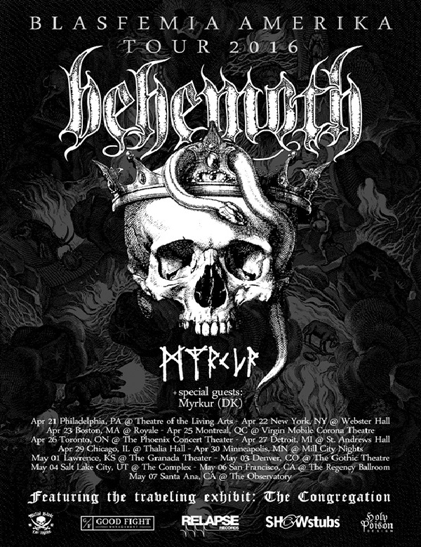 Behemoth / Myrkur: Tour Flyer